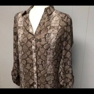The Limited M snake skin print button down blouse